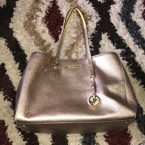 Michael Kors metallic Gold purse